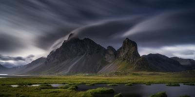 Mountain Landscape, Hvalsnes, Eastern Iceland-Ragnar Th Sigurdsson-Photographic Print