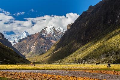 Mountain Landscape in the Andes, Peru, Cordiliera Blanca-Calin Tatu-Photographic Print