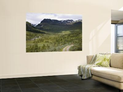 Mountain Landscape with Fjells and Stream in Summer-Christer Fredriksson-Wall Mural