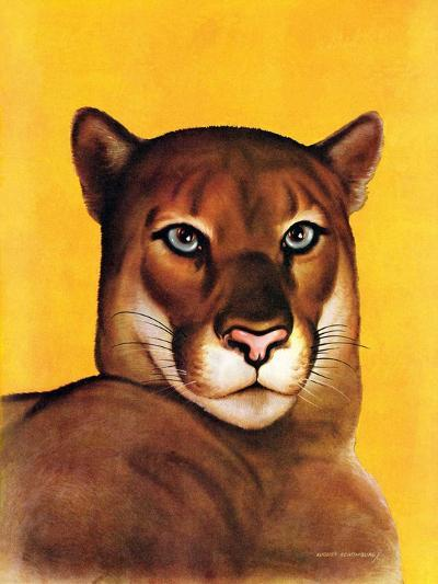 """Mountain Lions,""September 25, 1937-August Schombrug-Giclee Print"