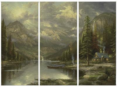 Mountain Majesty-Thomas Kinkade-Canvas Set