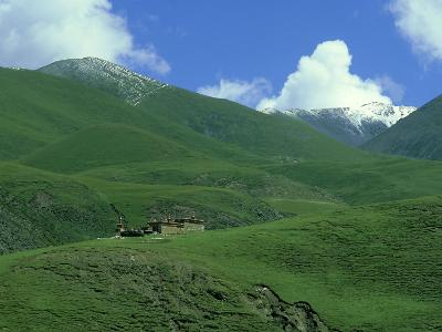 Mountain Monastery, Tibet-Michael Brooke-Photographic Print