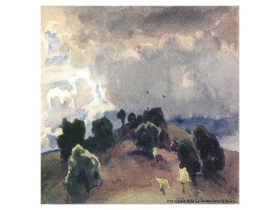Mountain near Heidenheim-Eugen Bracht-Art Print