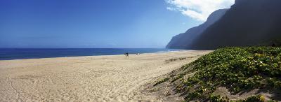 Mountain on the Beach, Pouhale Beach, Kauai, Hawaii, USA--Photographic Print