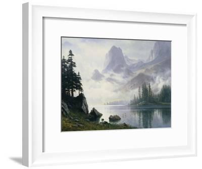 Mountain Out of the Mist-Albert Bierstadt-Framed Giclee Print