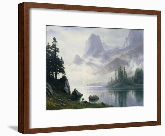Mountain Out of the Mist-Albert Bierstadt-Framed Giclee Print