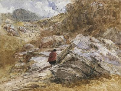 Mountain Pass at Bettws-Y-Coed, 1851-David Cox-Giclee Print
