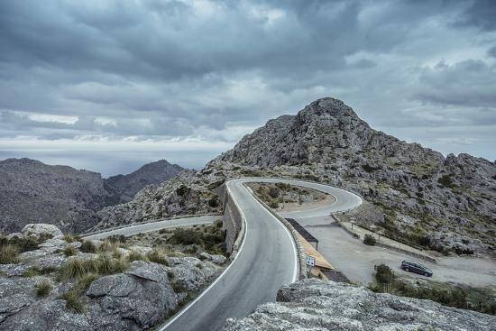 Mountain Pass Road on Majorca, Sa Calobra, Serpentine-Jorg Simanowski-Photographic Print