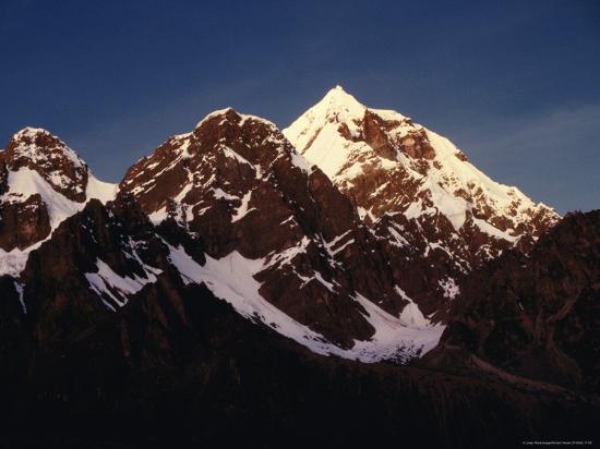 Mountain Peak with Snow, Puno, Vilcanota, Cuzco, Peru-Richard I'Anson-Photographic Print