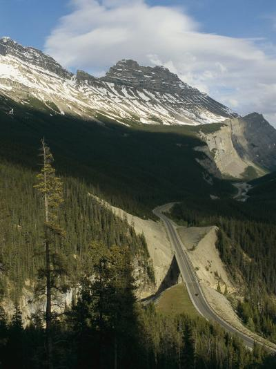 Mountain Peaks Along the Icefields Parkway-Michael S^ Lewis-Photographic Print