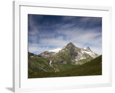 Mountain Peaks from Trollstigen in Summer-Christer Fredriksson-Framed Photographic Print