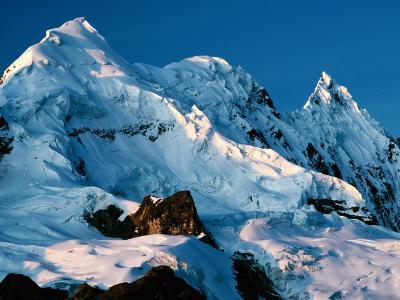 Mountain Peaks Under Snow on Vilcanota Trek, Vilcanota, Cuzco, Peru-Richard I'Anson-Photographic Print