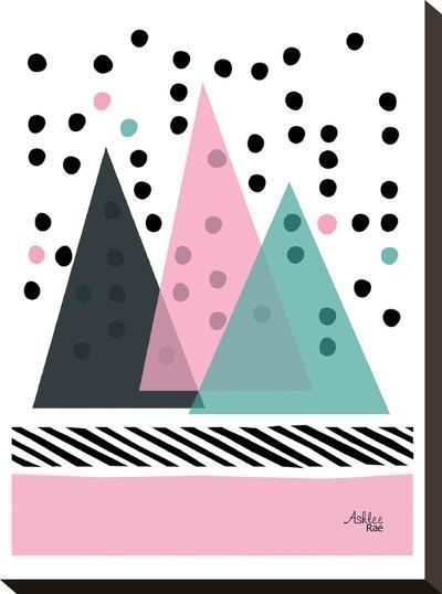 Mountain Rain-Ashlee Rae-Stretched Canvas Print