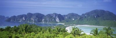 Mountain Range and Trees in the Island, Phi Phi Islands, Thailand--Photographic Print