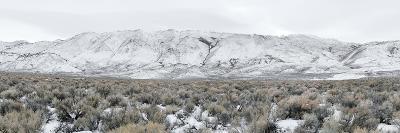 Mountain Range, Black Rock Desert, Nevada, USA--Photographic Print