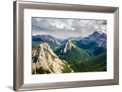 Mountain Range Landscape View in Jasper Np, Canada-MartinM303-Framed Photographic Print