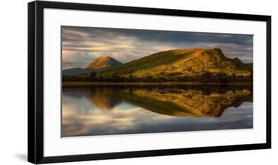 Mountain Reflection in Loch Awe at Sunset, Argyll and Bute, Scottish Highlands, Scotland--Framed Premium Photographic Print