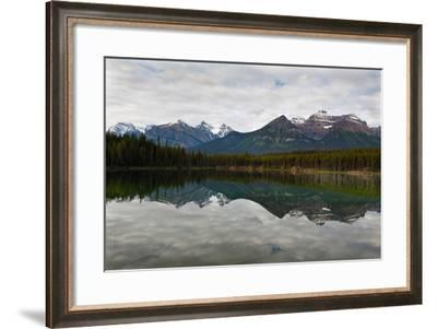 Mountain Reflections, Herbert Lake, Canada-George Oze-Framed Photographic Print