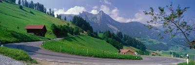 Mountain Road Jaunpass Switzerland--Photographic Print