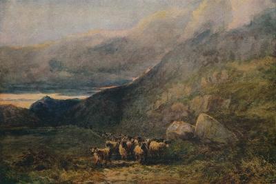 Mountain Road with Sleep, c1838-David Cox the elder-Giclee Print