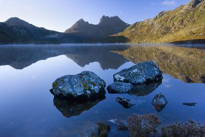 Mountain Scenery Dove Lake in Front of Massive--Photographic Print