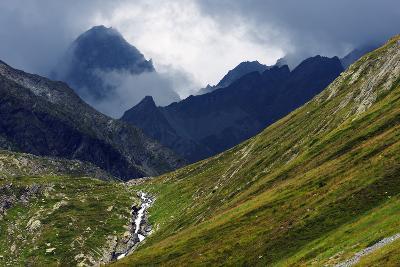 Mountain Scenery in the Unterengadin, Engadine, Graubunden, Switzerland, Europe-Christian Kober-Photographic Print