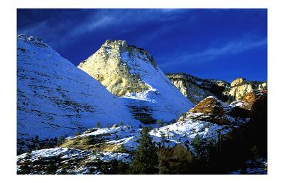Mountain Snow and Shadows, Zion National Park-Charles Glover-Art Print