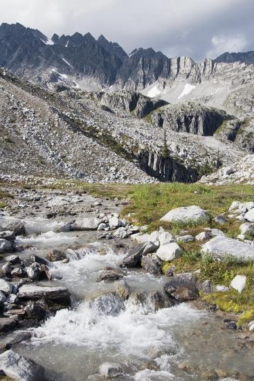 Mountain Stream and Mountains; British Columbia, Canada-Design Pics Inc-Photographic Print