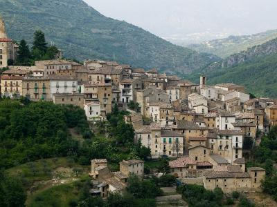 Mountain Town, Anversa di Abruzzi, Abruzzo, Italy-Walter Bibikow-Photographic Print