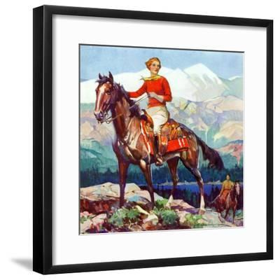 """Mountain Trail Ride,""April 1, 1936-Frank Schoonover-Framed Giclee Print"
