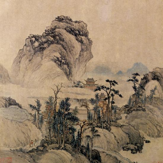 Mountain View Giclee Print By Ming Dynasty Chinese School Art Com