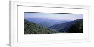 Mountain Vista from Blue Ridge Parkway, NC-Jon Riley-Framed Photographic Print