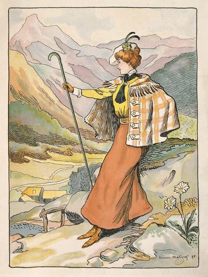 Mountain Walking Clothes--Giclee Print