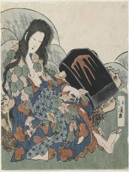 Mountain Witch Holding a Hachet-Toyota Hokkei-Giclee Print