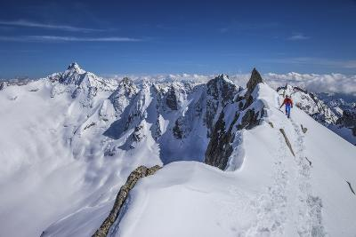 Mountaineer at Canton Peak, Forno Valley, Switzerland-ClickAlps-Photographic Print
