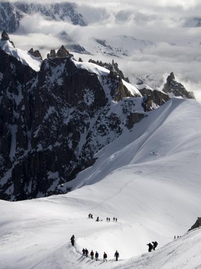 Mountaineers and Climbers, Mont Blanc Range, French Alps, France, Europe-Richardson Peter-Photographic Print