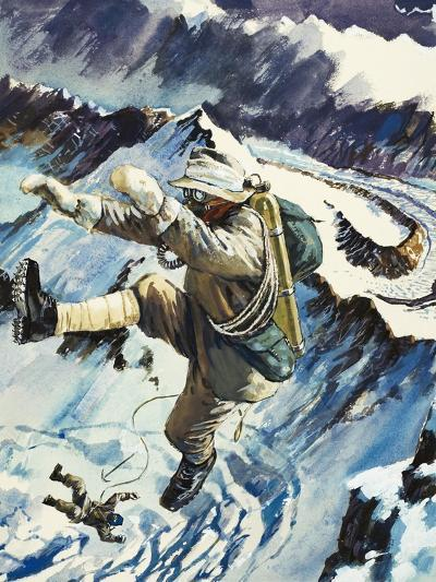 Mountaineers Falling to Their Death--Giclee Print