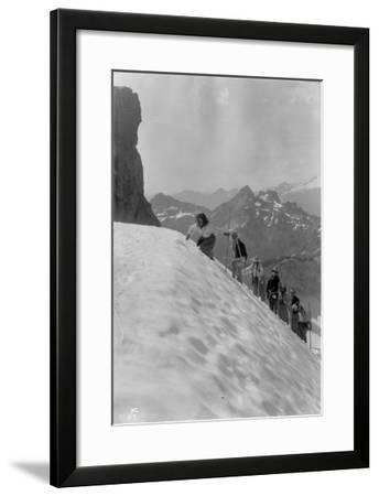 Mountaineers in the North Cascades, ca. 1909-Ashael Curtis-Framed Giclee Print