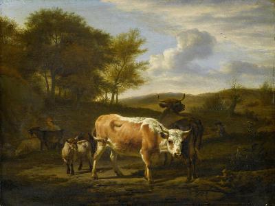 Mountainous Landscape with Cows, 1663-Adriaen van de Velde-Giclee Print