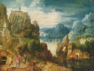 Mountainous Landscape with the Road to Emmaus, 1597-Lucas van Valckenborch-Giclee Print