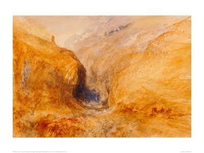Mountainous Landscape-J^ M^ W^ Turner-Giclee Print