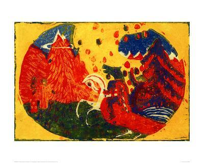 Mountains, 1911-Wassily Kandinsky-Giclee Print