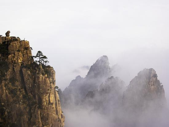 Mountains and Fog-Frank Lukasseck-Photographic Print