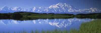 Mountains and Lake Denali National Park Ak USA--Photographic Print