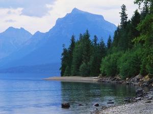 Mountains and Lake McDonald Shoreline