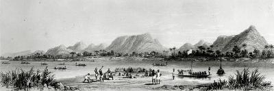 Mountains and Market Canoes Near Bokwen-William Allen-Giclee Print