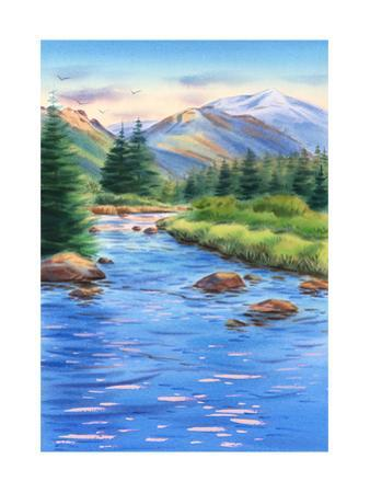 Mountains and River Landscape