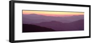 Mountains at Dawn, Clingman's Dome, Great Smoky Mountains National Park, North Carolina, USA
