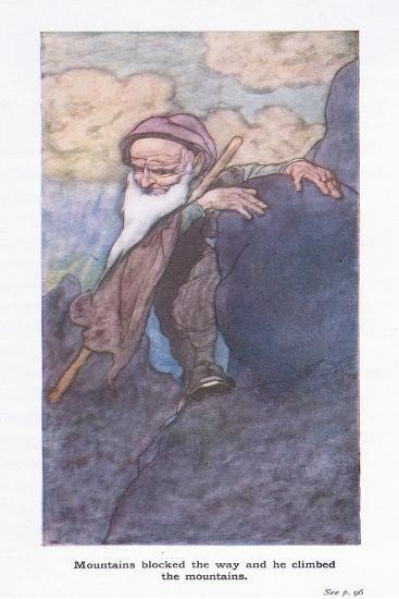 Mountains Blocked the Way and He Climed the Mountains-Charles Robinson-Giclee Print