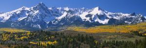 Mountains Covered in Snow, Sneffels Range, Colorado, USA